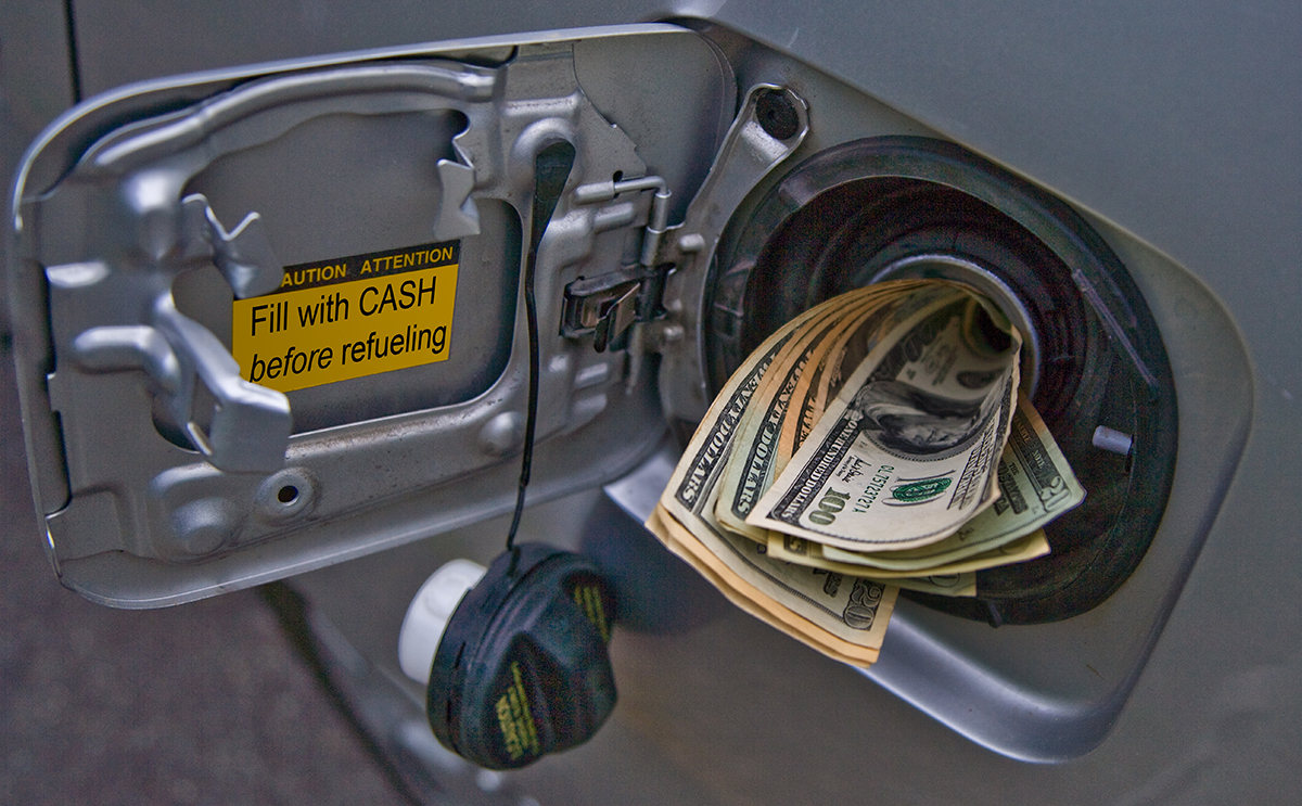 Cash in Gas Tank.