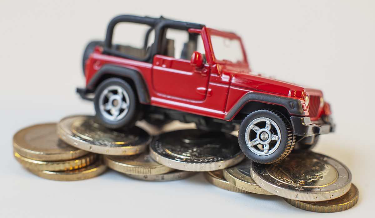 Jeep on Coins.