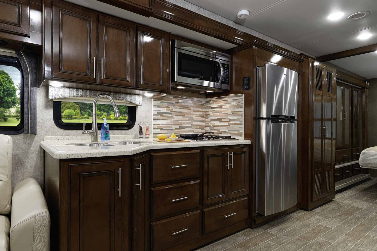 The interior of the 2020 Miramar RV spells comfort and luxury.