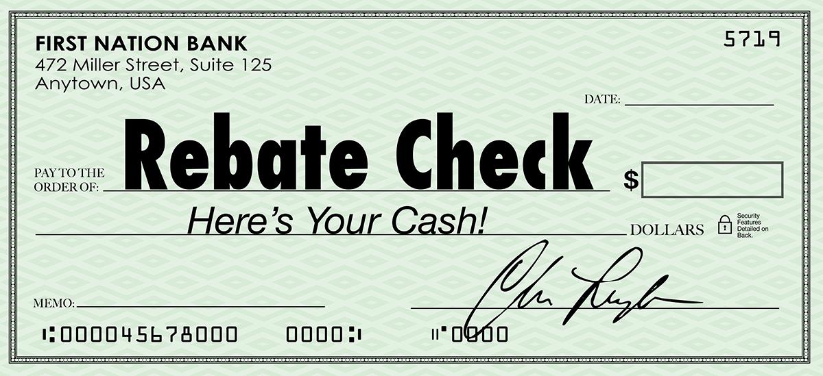 Rebate Check.